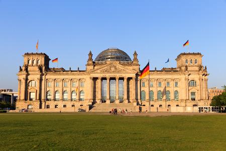 The Reichstag building in Berlin  German parliament  Standard-Bild