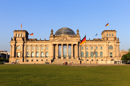 The Reichstag building in Berlin  German parliament  Stock Photo