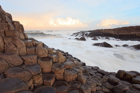 giants: Sunrise at the Giants Causeway,Northern Ireland