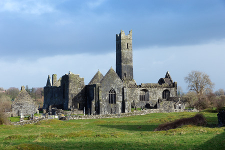 quin: Quin Abbey, County Clare, Ireland  Editorial