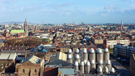 View over Dublin with a part of it Stock Photo - 29202126