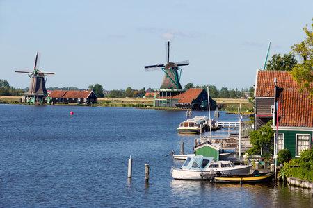 holland landscape: Windmills of the Zaanse Schans