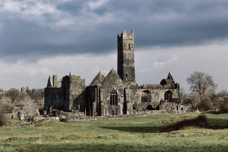 abbey: Quin Abbey, County Clare, Ireland  Editorial