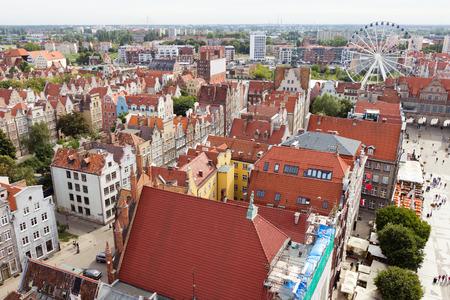 panorama view: Vista panoramica di Danzica, Polonia