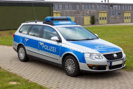Duitse politie patrouillewagen Stockfoto