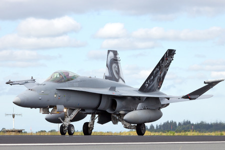 f18: Fighter aircraft about to take off