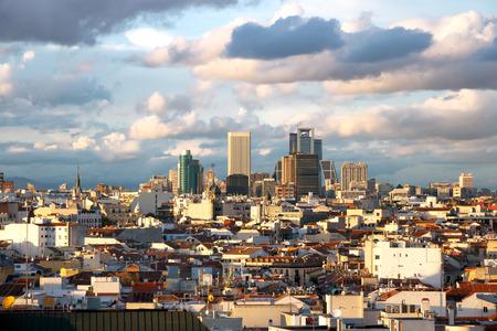 Panoramic aerial view of Madrid