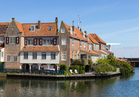 enkhuizen: Houses in Enkhuizen, The Netherlands. The city was once one of the harbour-towns of the VOC.