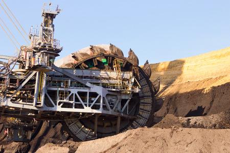 coal mining: Giant bucket wheel excavator Stock Photo