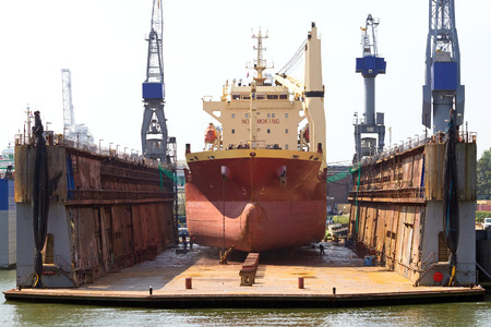 drydock: Ship in a dry dock for replairs