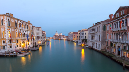 grand canal: Venice Grand canal at  sunset Editorial