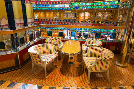 fortuna: AMSTERDAM - SEP 2: Interior of  the Costa Fortuna cruise ship on Sep 2, 2014 in Amsterdam, The Netherlands. The ship is part of a fleet of 17 ships owned by Costa Cruises.
