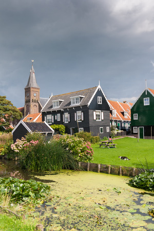 marken: View on the historic town of Marken near Amsterdam, Holland.