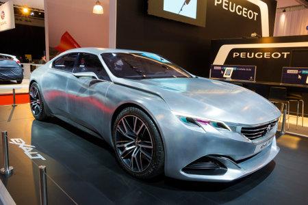 exalt: AMSTERDAM - APRIL 16, 2015: Peugeot Exalt concept car at the AutoRAI 2015.