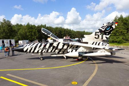 fighter jet: WITTMUND, GERMANY- JUNE 29: German Air Force Tornado fighter jet at the Phantom Pharewell on June 29, 2013 at Wittmund , Germany.