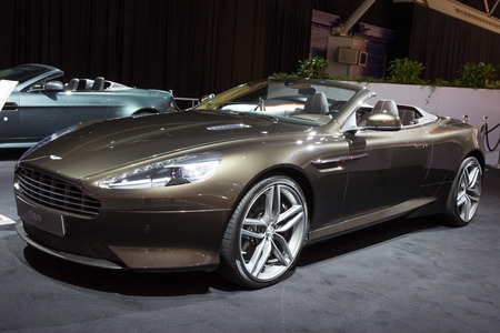 luxery: AMSTERDAM - APRIL 16, 2015: Aston Martin DB9 car at the AutoRAI 2015. Editorial