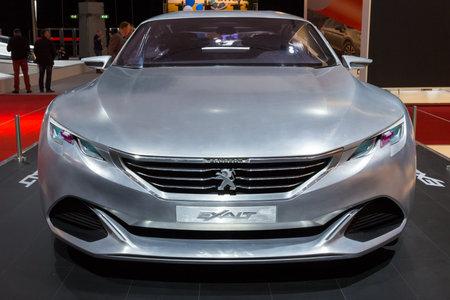AMSTERDAM - APRIL 16, 2015: Peugeot Exalt concept car at the AutoRAI 2015.