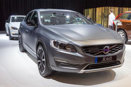 cross country: AMSTERDAM - APRIL 16, 2015: Volvo S60 Cross Country at the AutoRAI 2015.