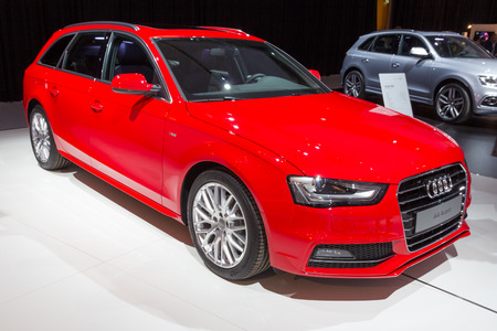 avant: AMSTERDAM - APRIL 16, 2015: Audi A4 Avant car at the AutoRAI 2015. Editorial