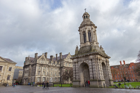 architectural studies: Bell Tower in the courtyard of the Trinity College