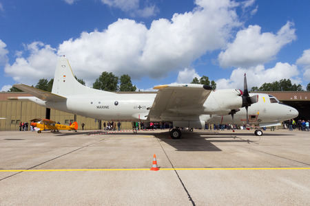 orion: WITTMUND, GERMANY- JUNE 29, 2013: German Navy P-3 Orion aircraft on display at the Phantom Pharewell event. Editorial