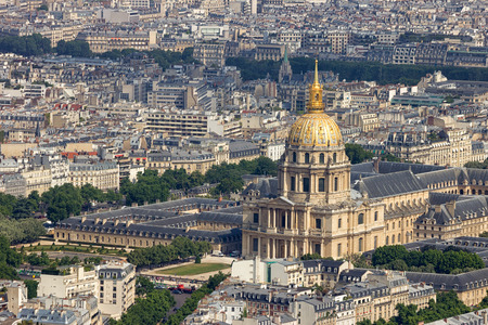 invalides: PARIS - JUN 19, 2015: LHotel national des Invalides. The complex of buildings contains museums and monuments relating to the military.