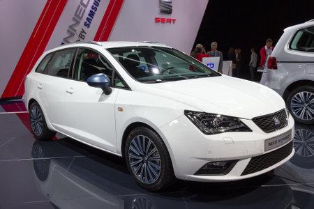 iaa: FRANKFURT, GERMANY - SEP 16, 2015: New Seat Ibiza ST Connect shown at the IAA 2015. Editorial