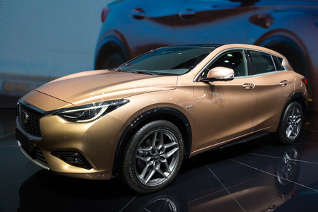 iaa: FRANKFURT, GERMANY - SEP 16, 2015: Infiniti Q30 debut at the IAA 2015.