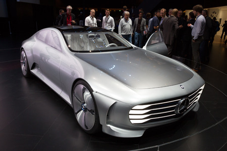 iaa: FRANKFURT, GERMANY - SEP 16, 2015: Mercedes-Benz Concept IAA Edition at the IAA 2015.