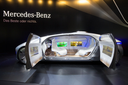 iaa: FRANKFURT, GERMANY - SEP 16, 2015: Mercedes Benz autonomous concept car at the IAA 2015. Editorial