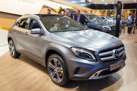 motor cars: FRANKFURT, GERMANY - SEP 16, 2015: Mercedes-Benz GLA 200d 4MATIC at the IAA 2015.