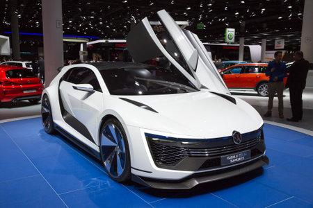 iaa: FRANKFURT, GERMANY - SEP 16, 2015: Volkswagen Golf GTE Sport concept car at the IAA 2015. Editorial