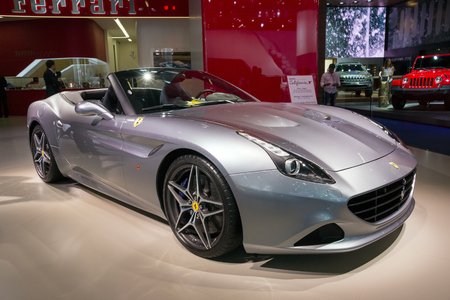 iaa: FRANKFURT, GERMANY - SEP 16, 2015: Ferrari California T sports car shown at the IAA 2015.