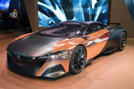 FRANKFURT, GERMANY - SEP 13: Peugeot Onyx at the IAA motor show on Sep 13, 2013 in Frankfurt. More than 1.000 exhibitors from 35 countries are present at the worlds largest motor show. Editorial