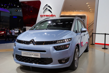 picasso: FRANKFURT, GERMANY - SEP 13: Citroën C4 Picasso at the IAA motor show on Sep 13, 2013 in Frankfurt. More than 1.000 exhibitors from 35 countries are present at the worlds largest motor show.