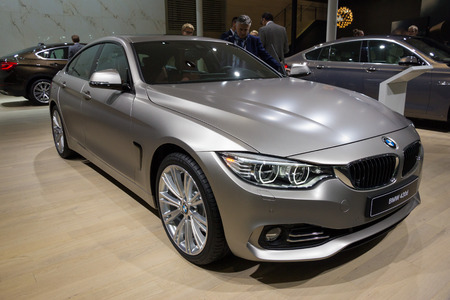 iaa: FRANKFURT, GERMANY - SEP 16, 2015: BMW 430d shown at the IAA 2015. Editorial