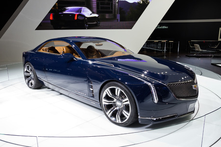 12 13: FRANKFURT, GERMANY - SEP 13: Cadillac Elmiraj at the IAA International Automobile Exhibition on Sep 13, 2013 in Frankfurt, Germany. The worlds biggest motor show, the IAA, is running from Sep 12 to 22, 2013. More than 1.000 exhibitors from 35 countries w