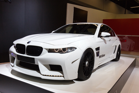 motorshow: FRANKFURT, GERMANY - SEP 13: BMW M5 Hamann Mi5Sion at the IAA motor show on Sep 13, 2013 in Frankfurt. More than 1.000 exhibitors from 35 countries are present at the worlds largest motor show.