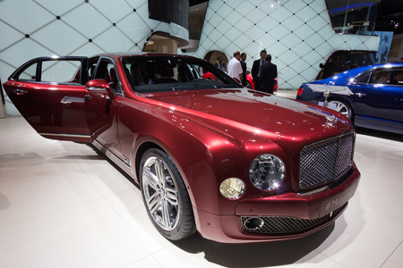 iaa: FRANKFURT, GERMANY - SEP 13: Bentley Mulsanne at the IAA motor show on Sep 13, 2013 in Frankfurt. More than 1.000 exhibitors from 35 countries are present at the worlds largest motor show.