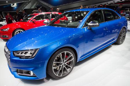iaa: FRANKFURT, GERMANY - SEP 16, 2015: New Audi S6 at the IAA 2015.