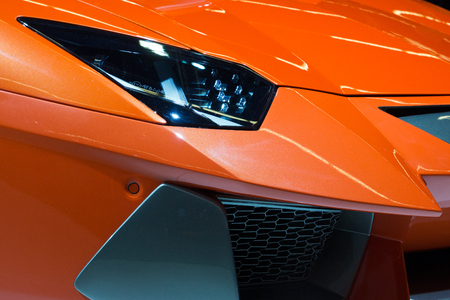 lamborghini: FRANKFURT, GERMANY - SEP 13: Lamborghini Aventador Hamann Nervudo close up at the Frankfurt IAA motor show on Sep 13, 2013 in Frankfurt, Germany Editorial
