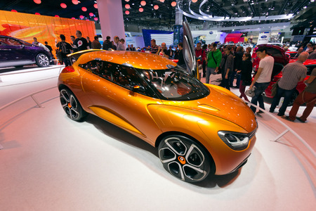 motor show: FRANKFURT, GERMANY - SEP 13: Renault Captur at the IAA motor show on Sep 13, 2013 in Frankfurt. More than 1.000 exhibitors from 35 countries are present at the worlds largest motor show.