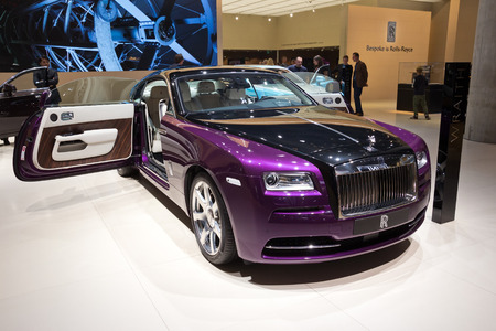 motor show: FRANKFURT, GERMANY - SEP 13: Rolls Royce Wraith at the IAA motor show on Sep 13, 2013 in Frankfurt. More than 1.000 exhibitors from 35 countries are present at the worlds largest motor show. Editorial