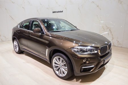 iaa: FRANKFURT, GERMANY - SEP 16, 2015: BMW X6 xDrive40d shown at the IAA 2015. Editorial