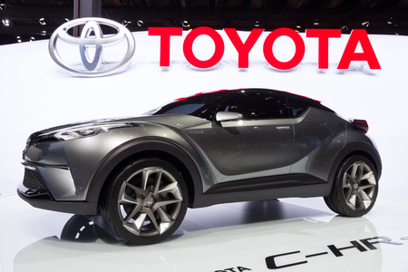 chr: FRANKFURT, GERMANY - SEP 16, 2015: Toyota C-HR concept car at the IAA 2015. Editorial