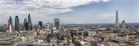 Panoramic overview of the London, UK Standard-Bild