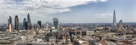 cityscapes: Panoramic overview of the London, UK Stock Photo
