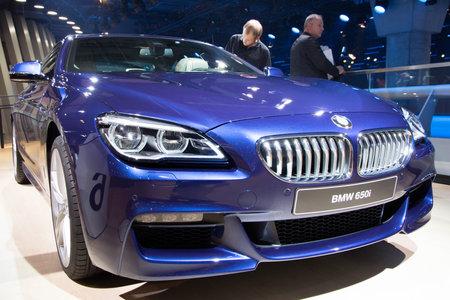 iaa: FRANKFURT, GERMANY - SEP 16, 2015: BMW 650i shown at the IAA 2015.