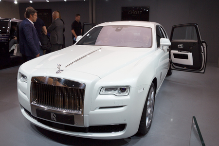 luxery: FRANKFURT, GERMANY - SEP 16, 2015: Rolls-Royce Ghost Series II at the IAA 2015.