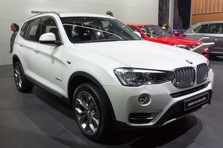 iaa: FRANKFURT, GERMANY - SEP 16, 2015: BMW X3 xDrive20d shown at the IAA 2015.